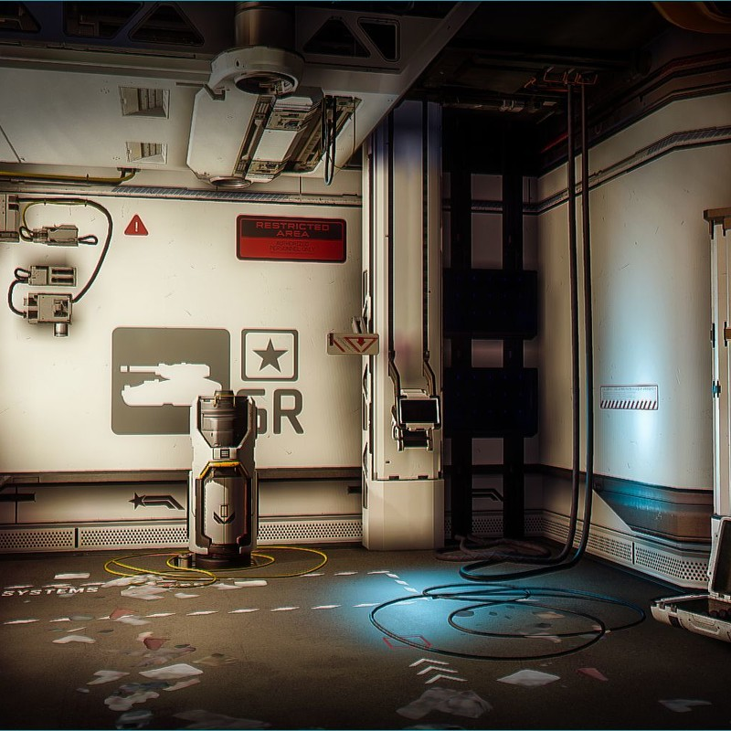 Halo 5: Guardians Warzone - Garage Interior
