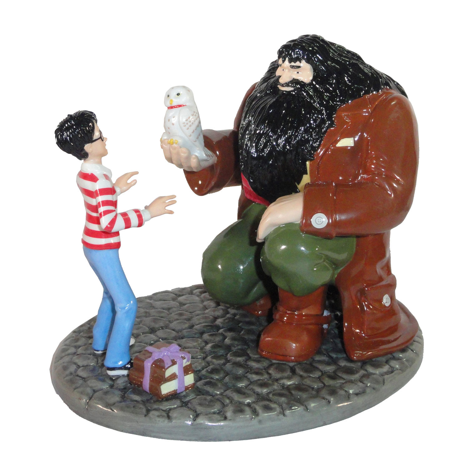 Harry's 11th - Hagrid's and Harry's head both virtually sculpted. Body's and base were sculpted in wax - Finished piece porcelain