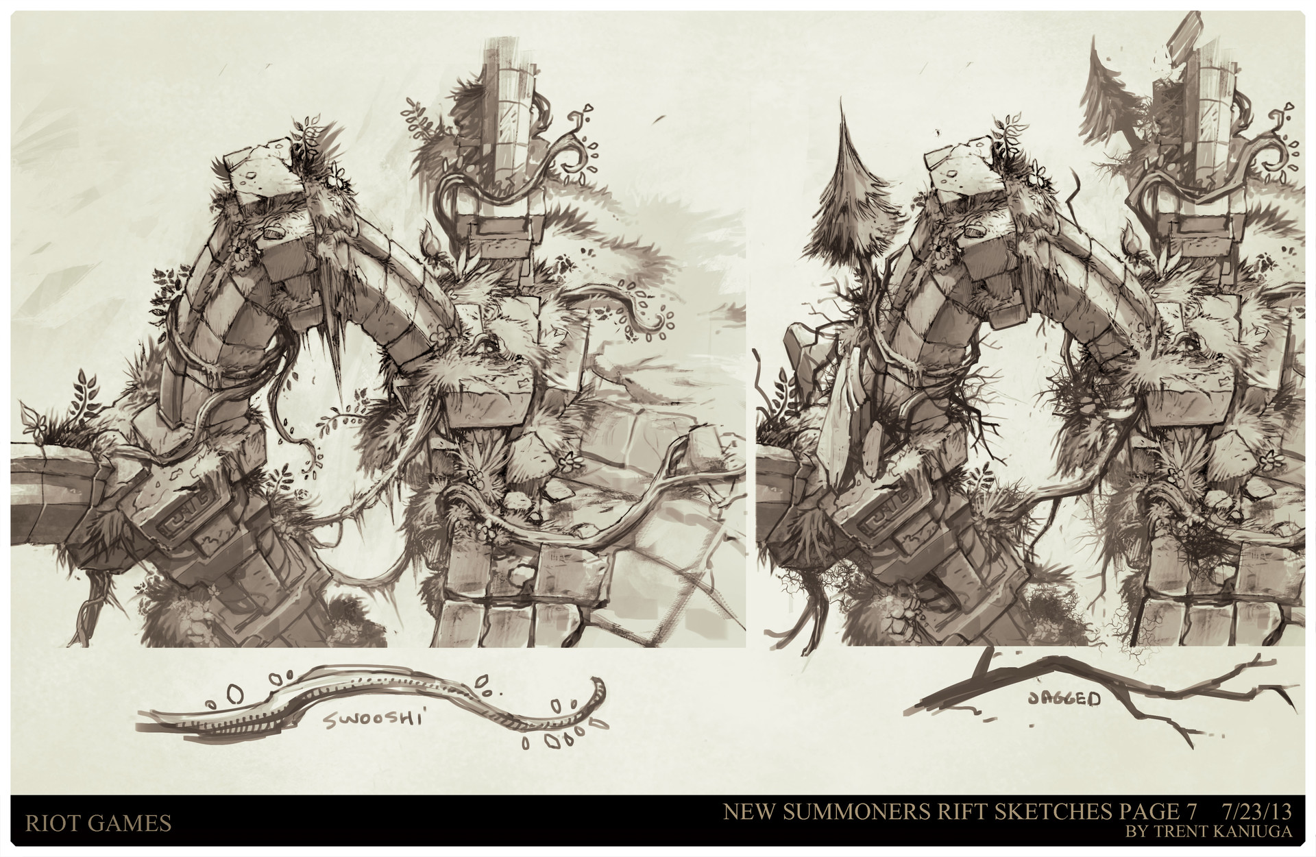 ArtStation   League Of Legends, Summoners Rift Update Architecture Concept  Art, Trent Kaniuga