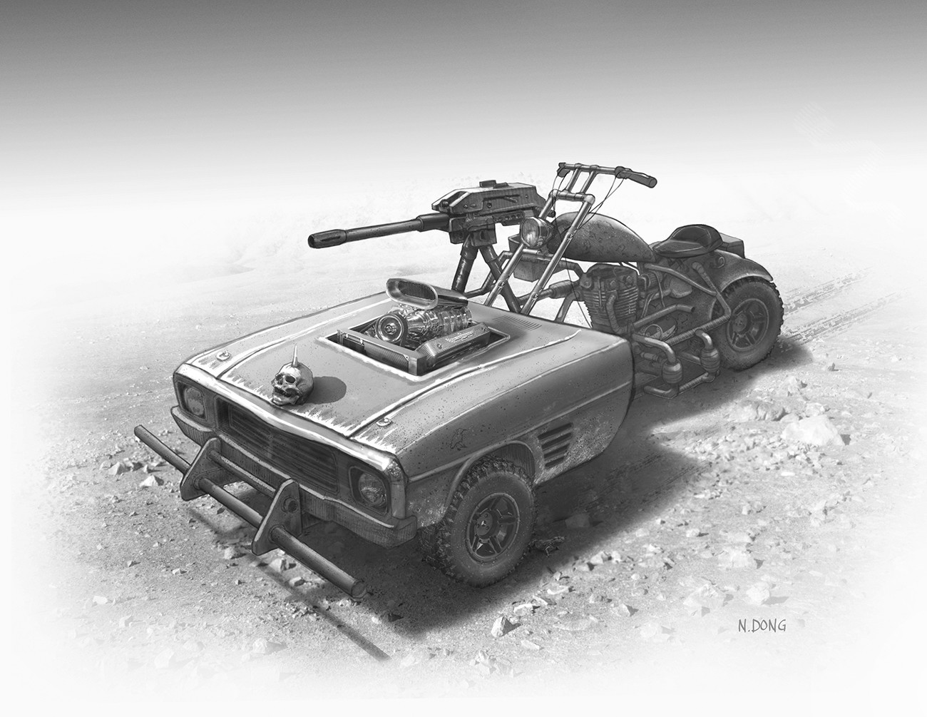 Madmax style vehicle design