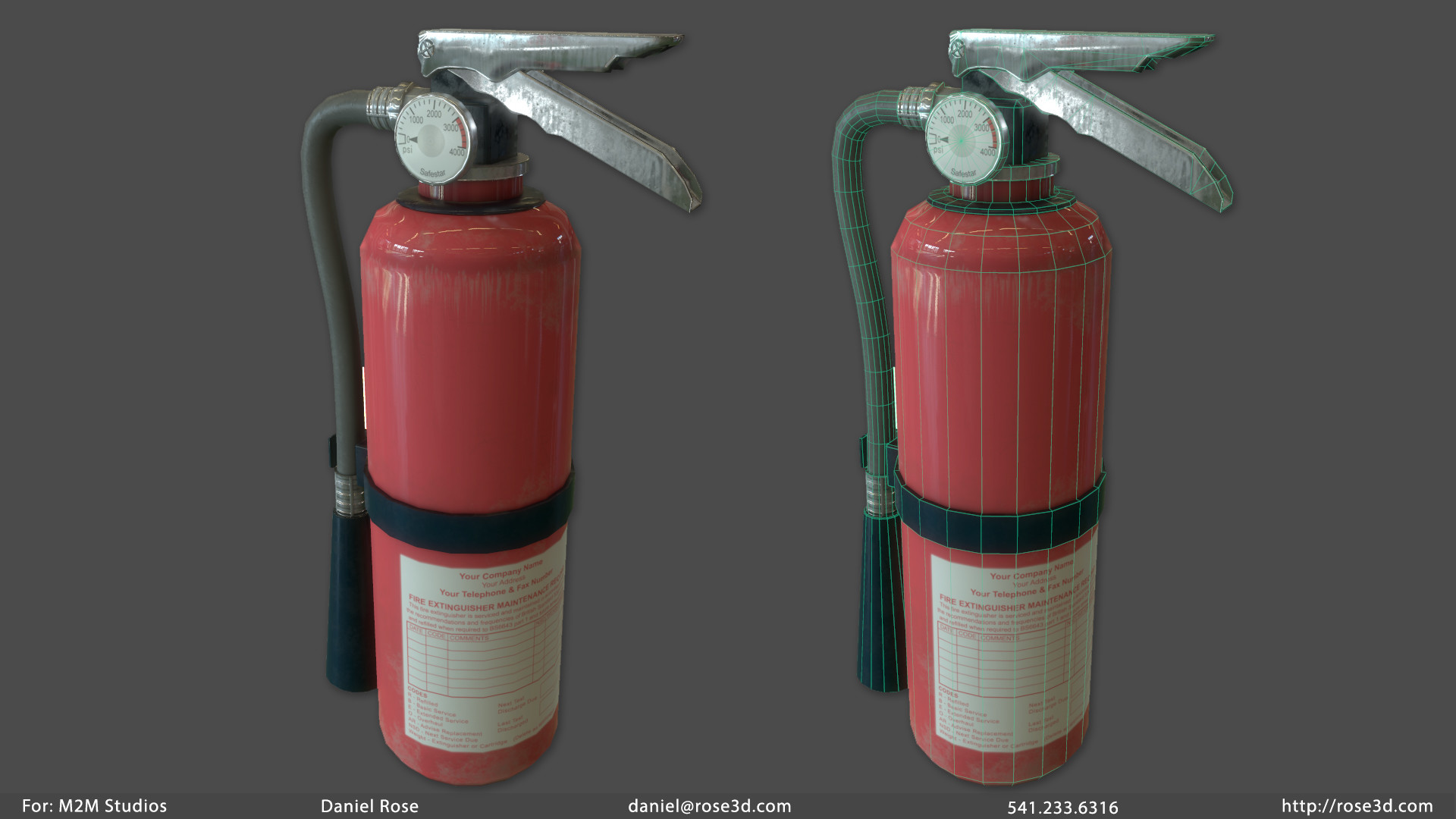 Daniel rose extinguisher prop
