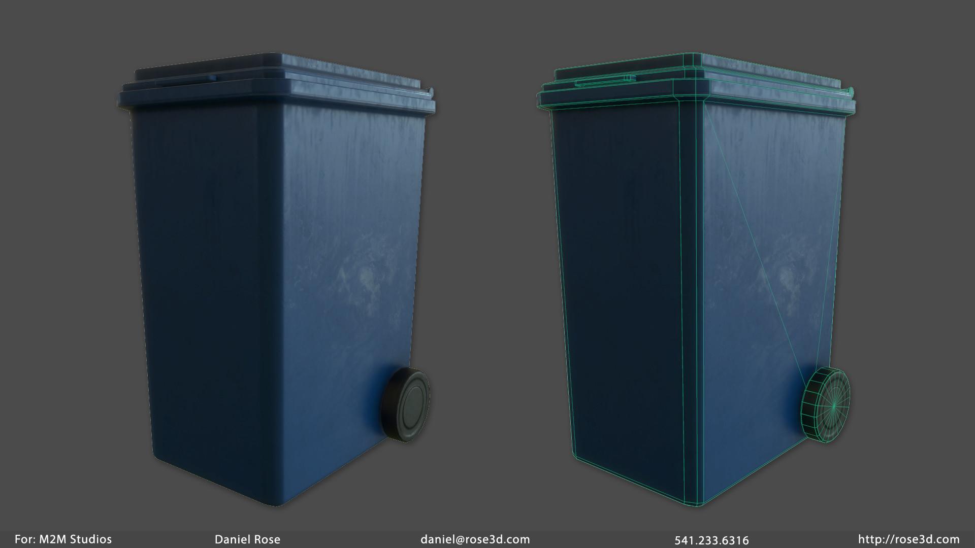 Daniel rose trashcan prop