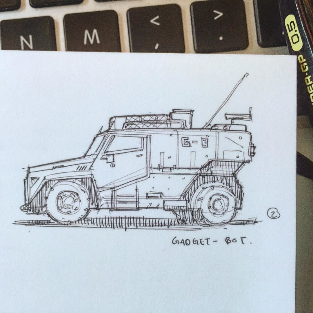 Gadget-Bot Productions - Warm up vehicle sketch!