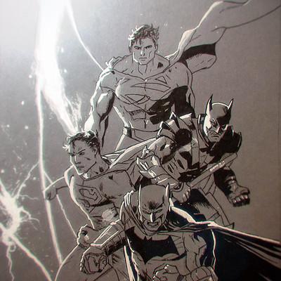 Martin jario martinjario copy batman superman tony daniel cover