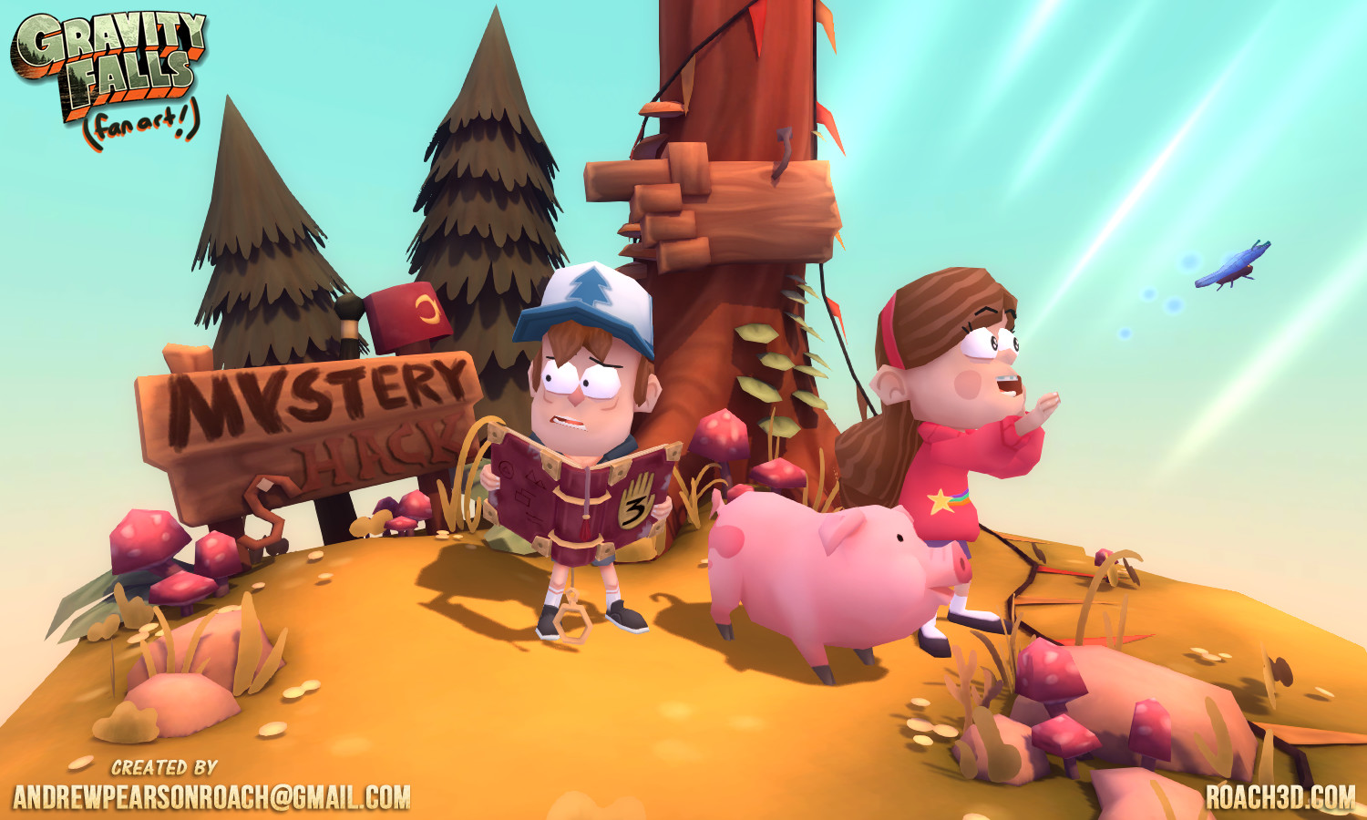 ArtStation - Gravity Falls - Fan Art, Andrew Pearson-Roach