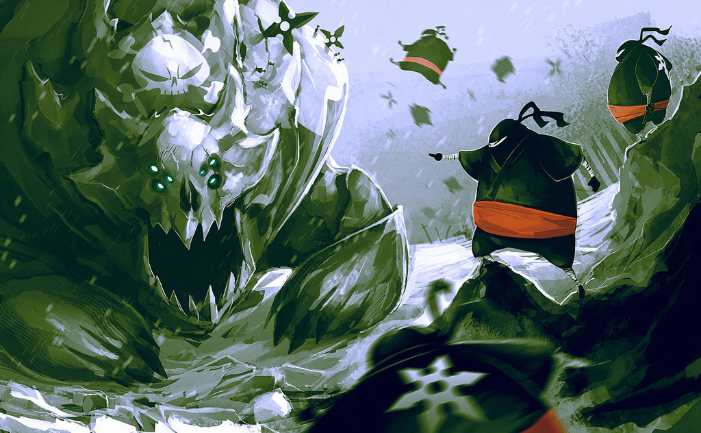 Rives alexis monster vs ninja by deadslug d6vqyx0
