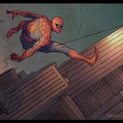 Justin thavirat spiderman03 color