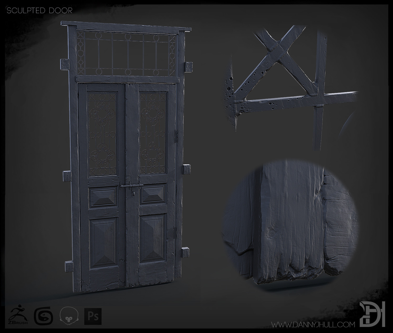 Daniel hull sculpted door renders