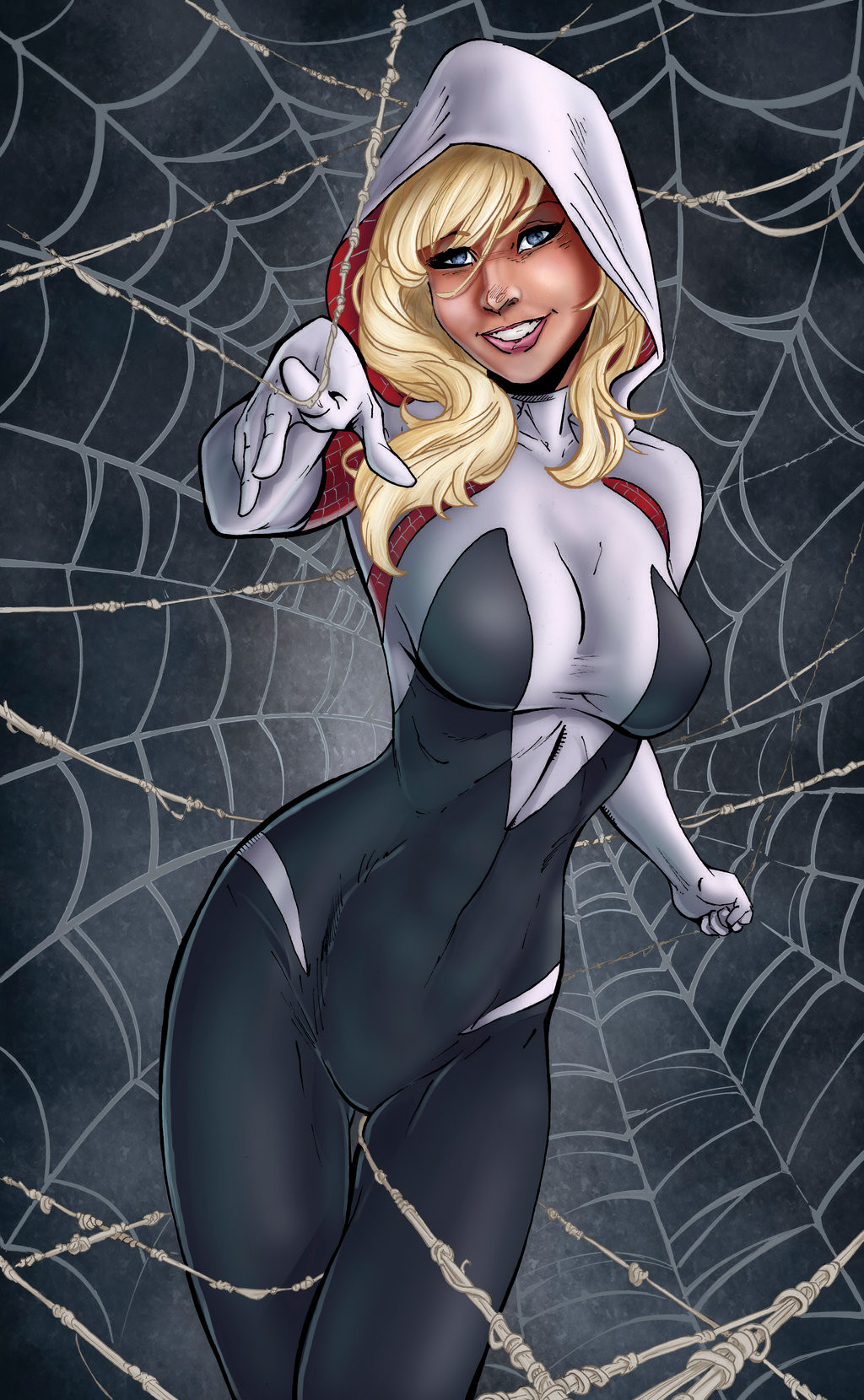 Matt james spider gwen by mattjamescomicarts d9i2mu0