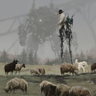 Jakub rozalski sheep walker s