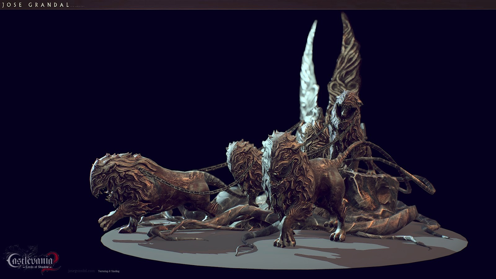 Lions monument. Lords of shadow 2