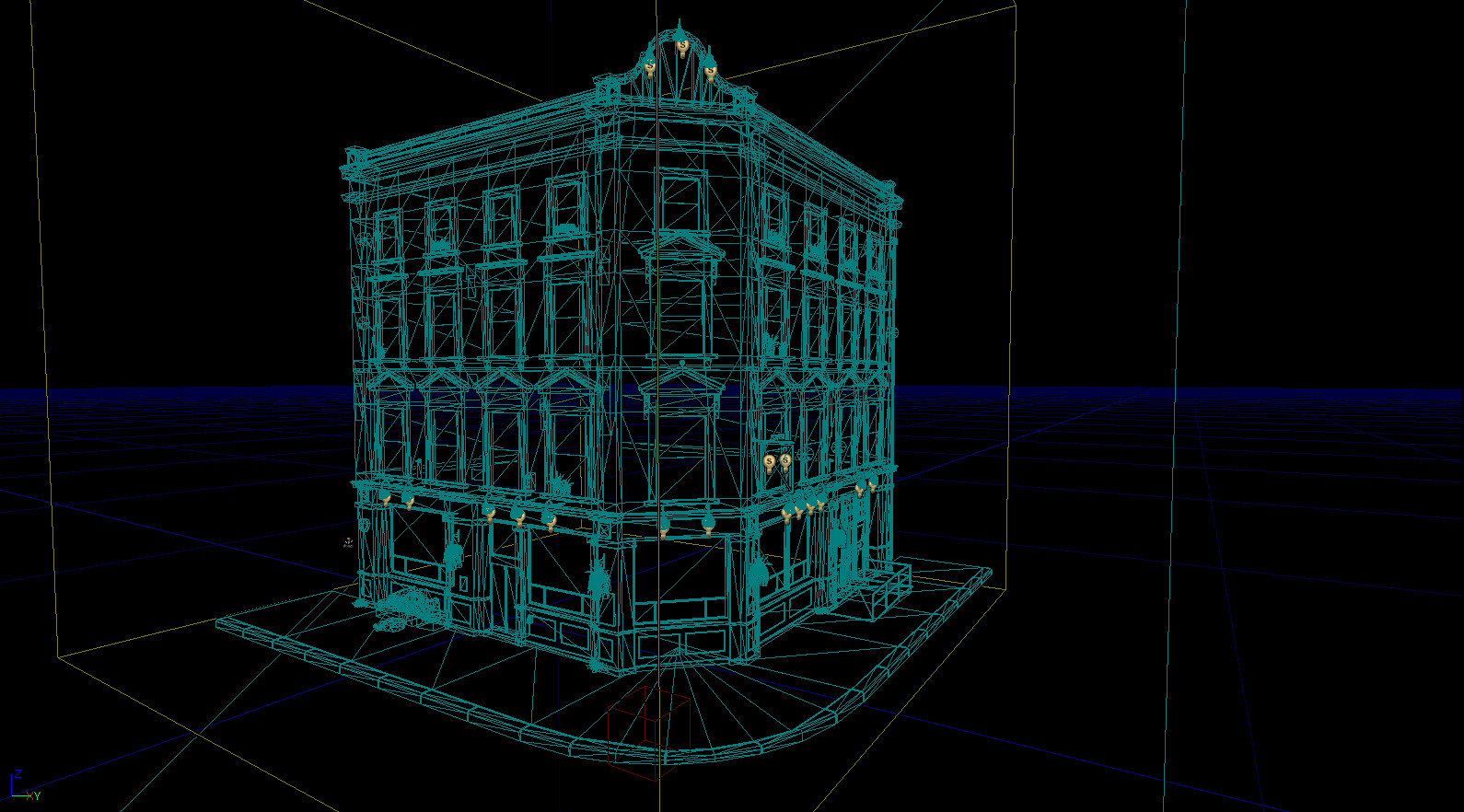 Wireframe in UDK.
