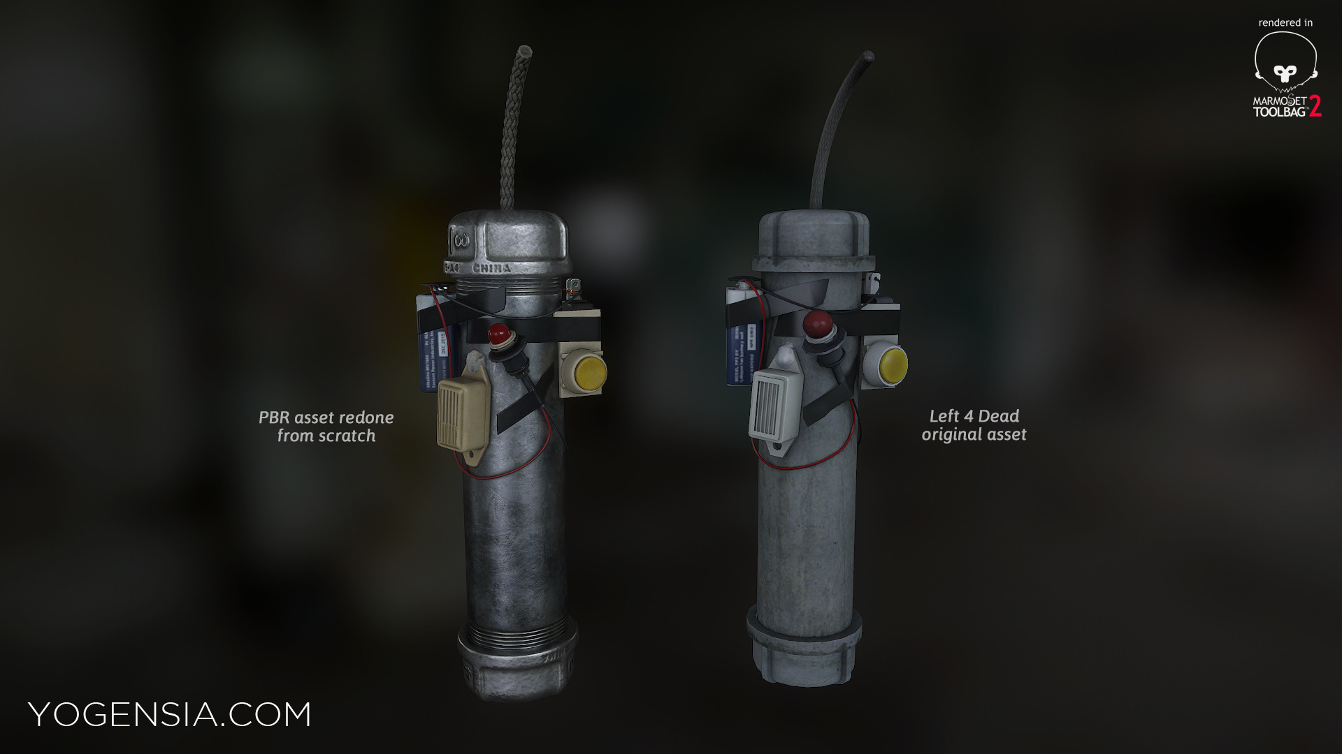 ArtStation - Pipebomb remake (from Left 4 Dead), Yogen Yogensia
