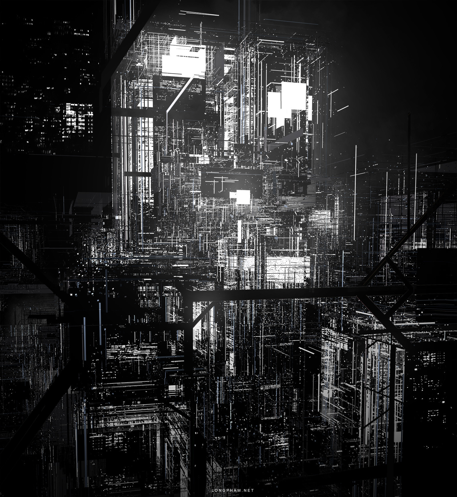artstation abstract city concept art long pham