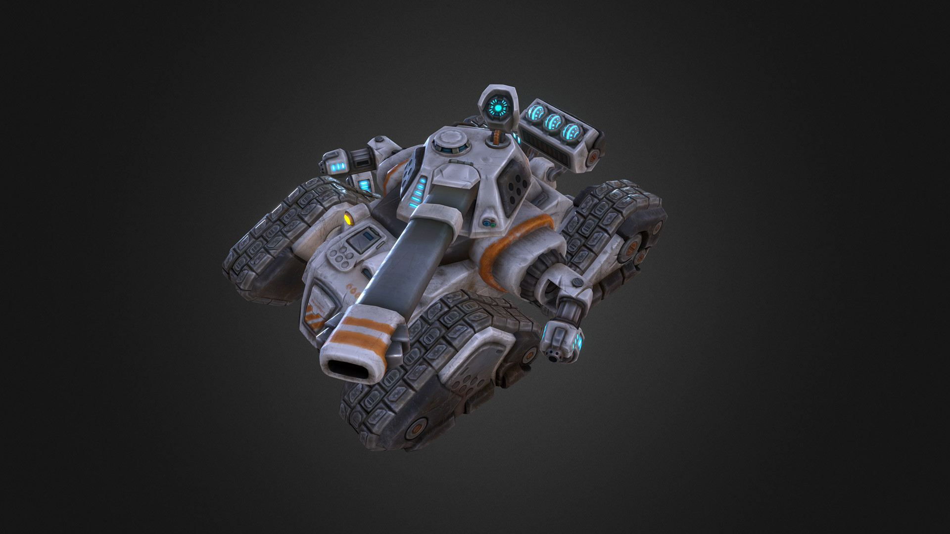 martin prestegaard lehnsdal - scifi tank for the game forced 2