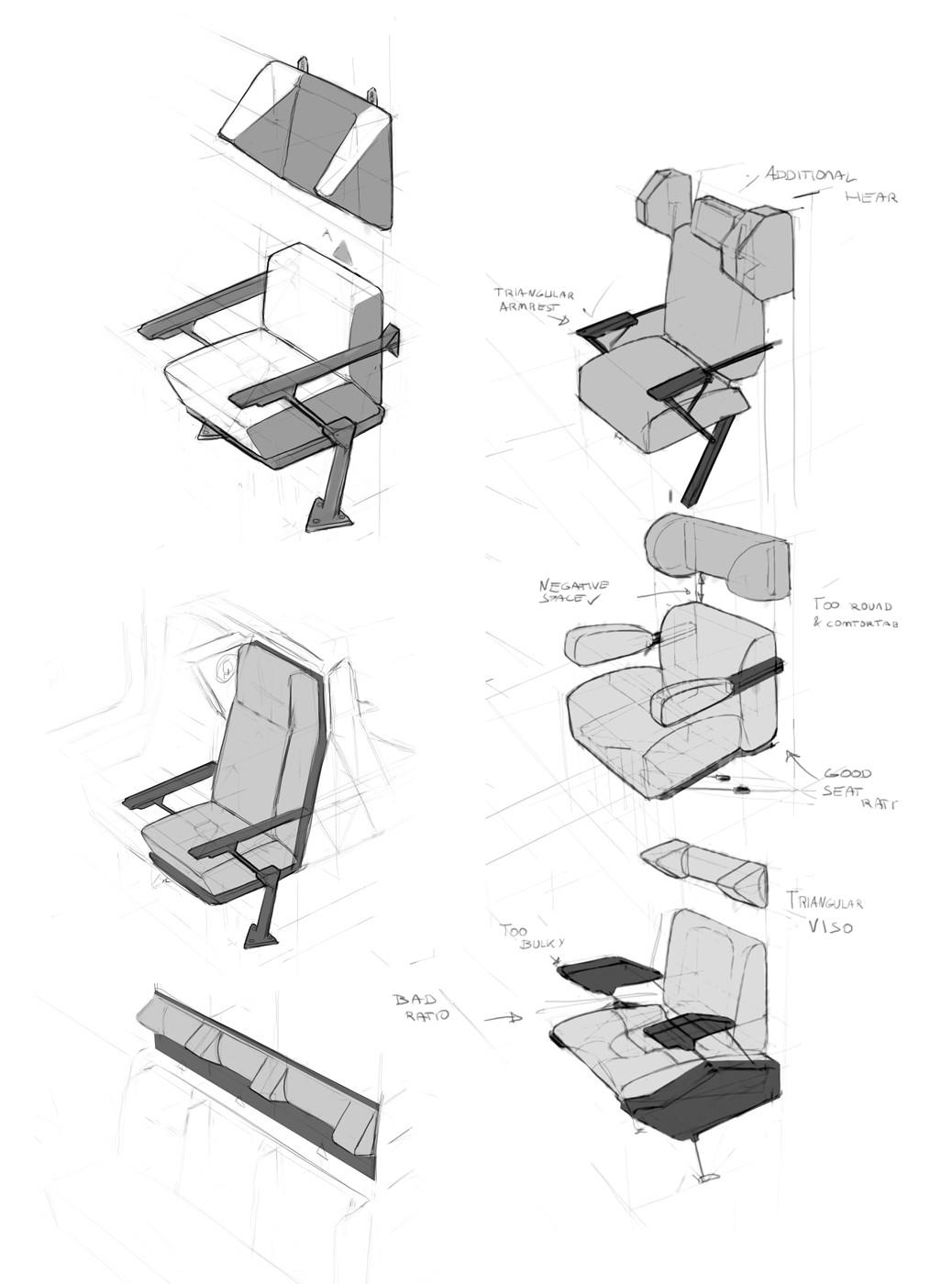 Adam daroszewski technical drawing seats