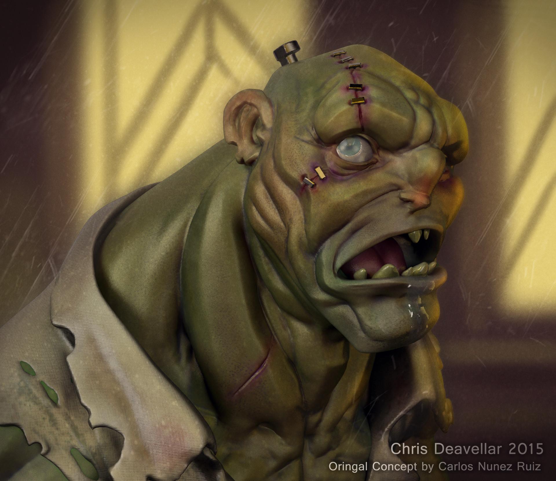 Chris deavellar zombie bust final