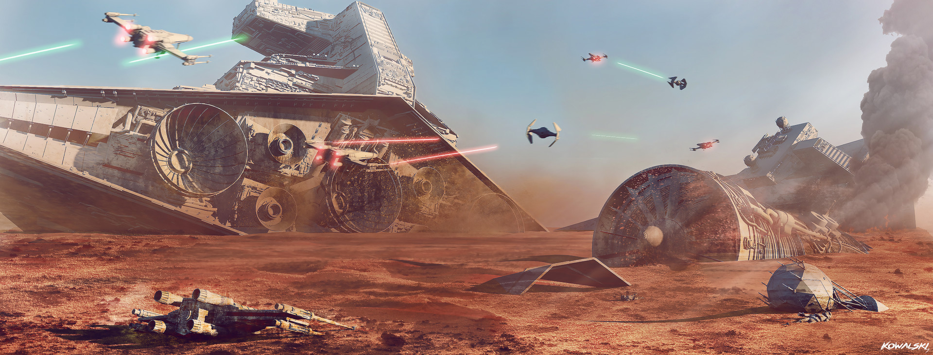 artstation - battle of jakku - star wars battlefront, dylan kowalski