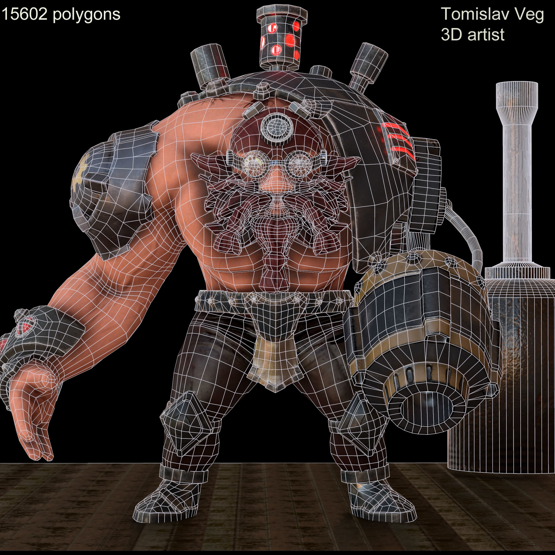 Wireframe, 15602 polygons