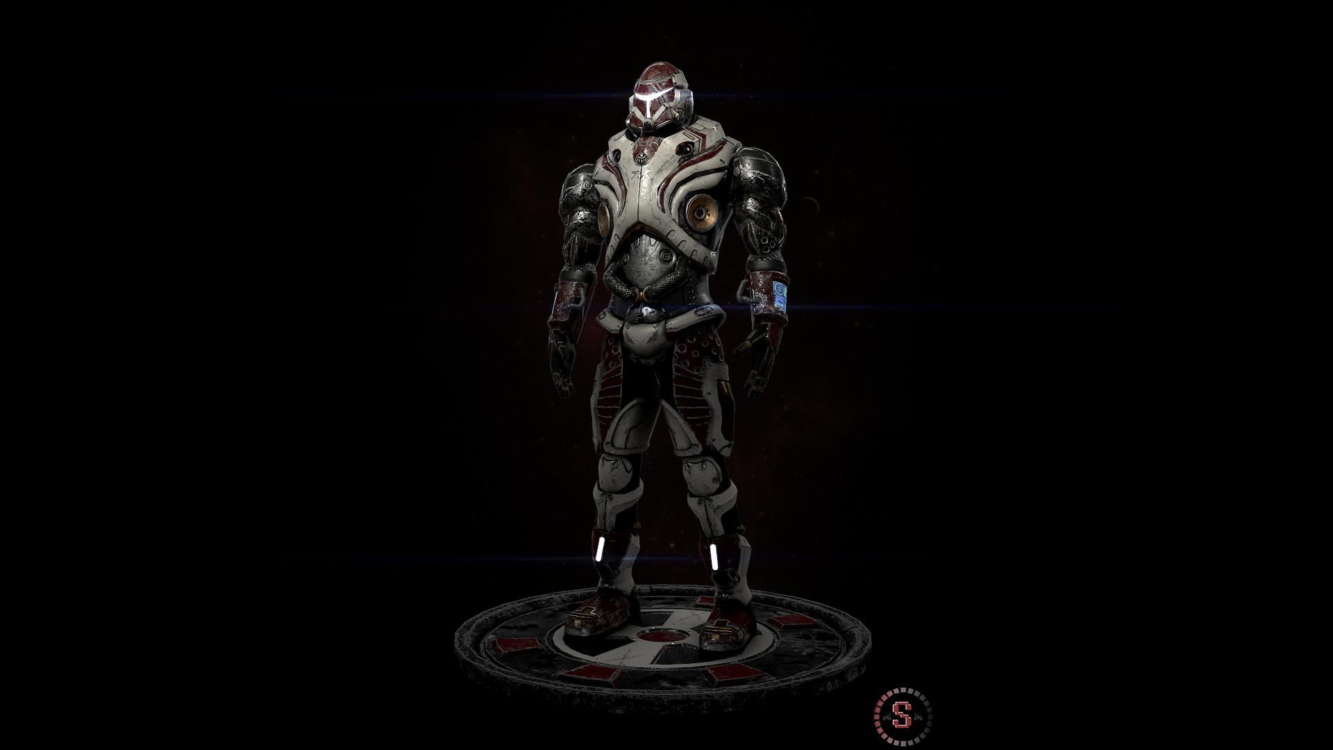Steven Downer Scifi Battle Armor B 17356