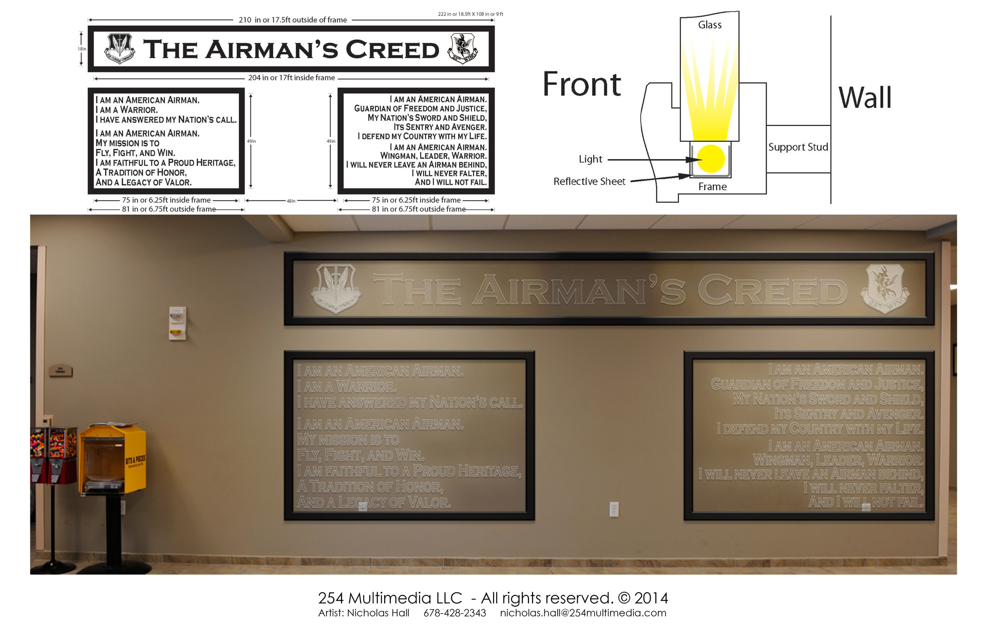Nicholas hall 254mm nhalls artwork airmans creed render