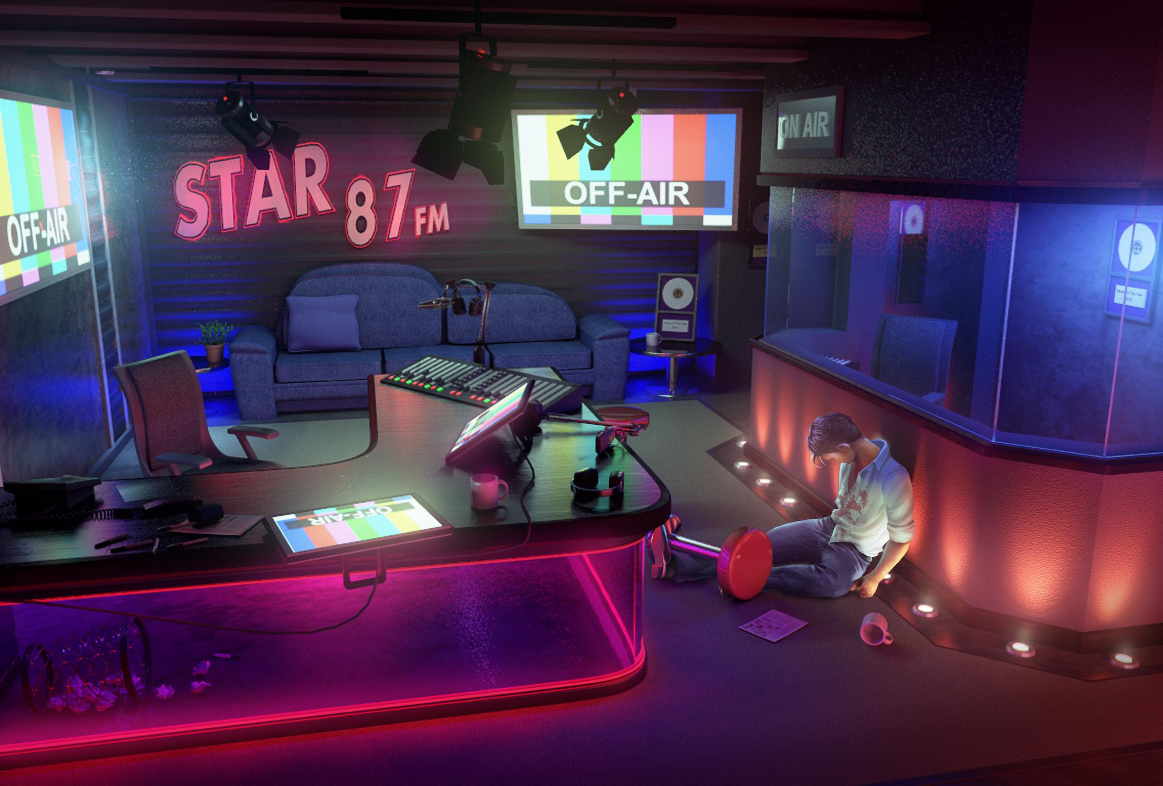 Radio DJ crime scene