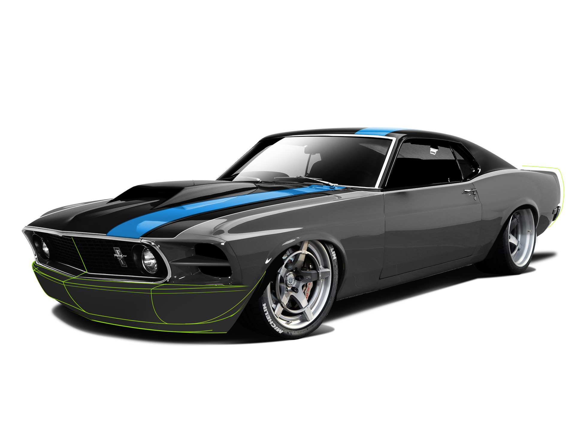 Mustang Concept >> Matt Bernal - Renegade 69 Mustang Wide Body