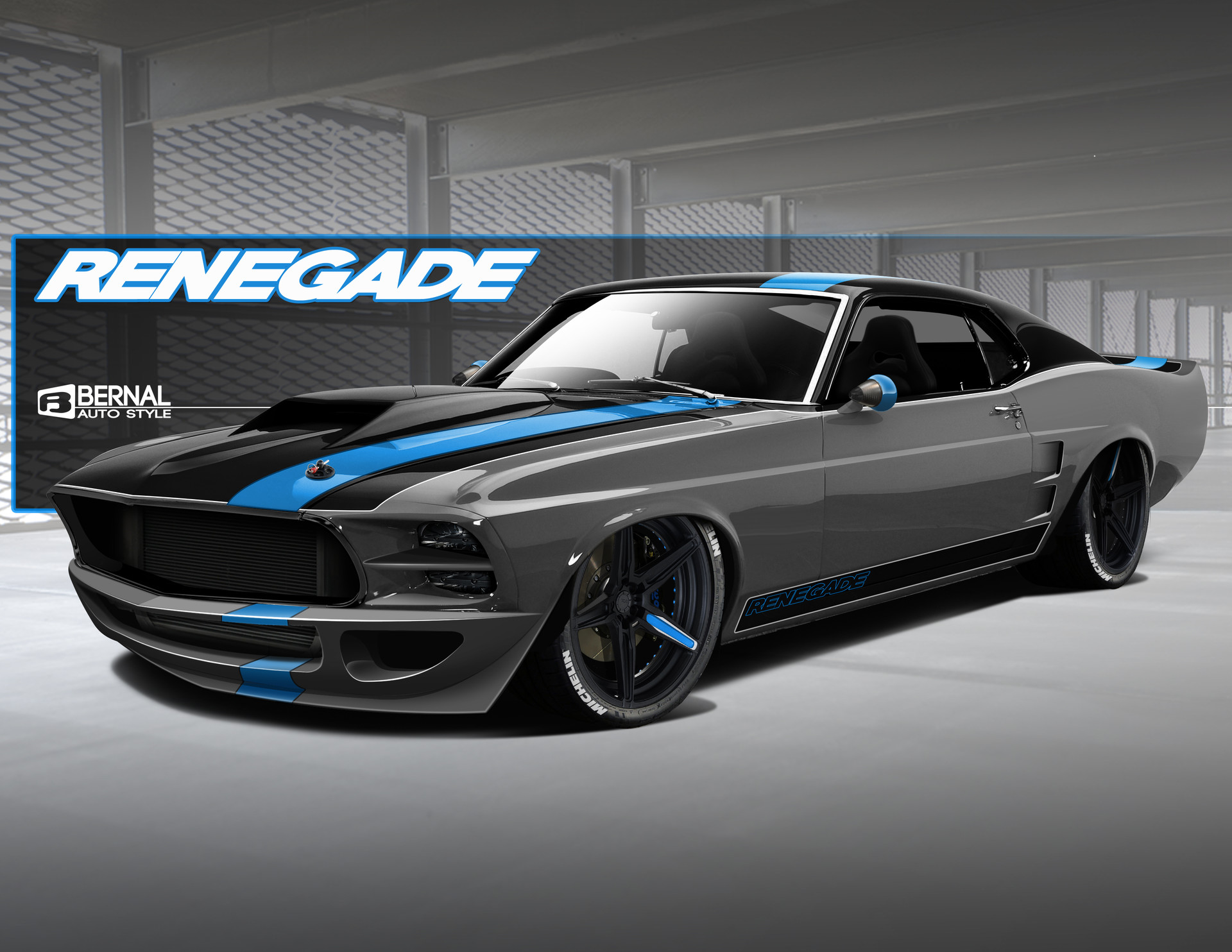 Matt Bernal Renegade 69 Mustang Wide Body