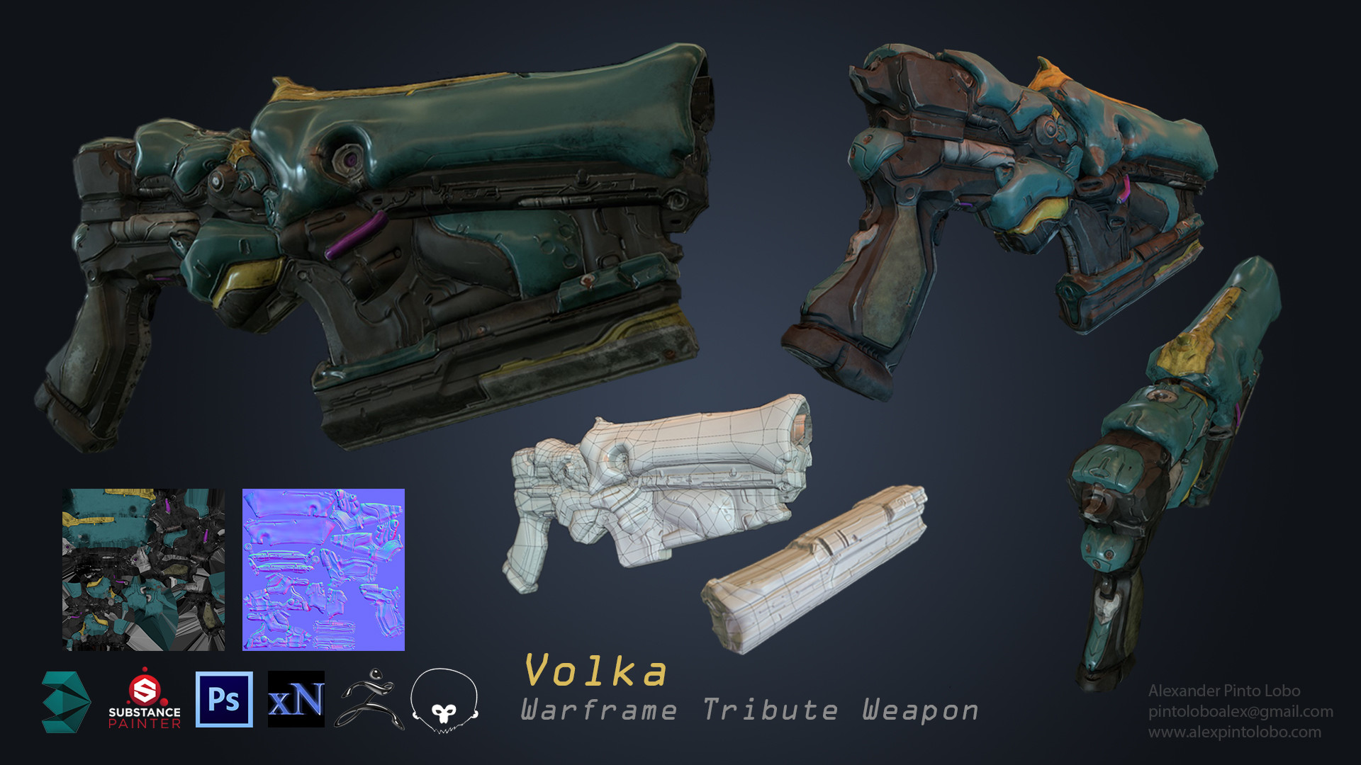 ArtStation - Volka: Warframe Tribute Weapon, Alexander Pinto