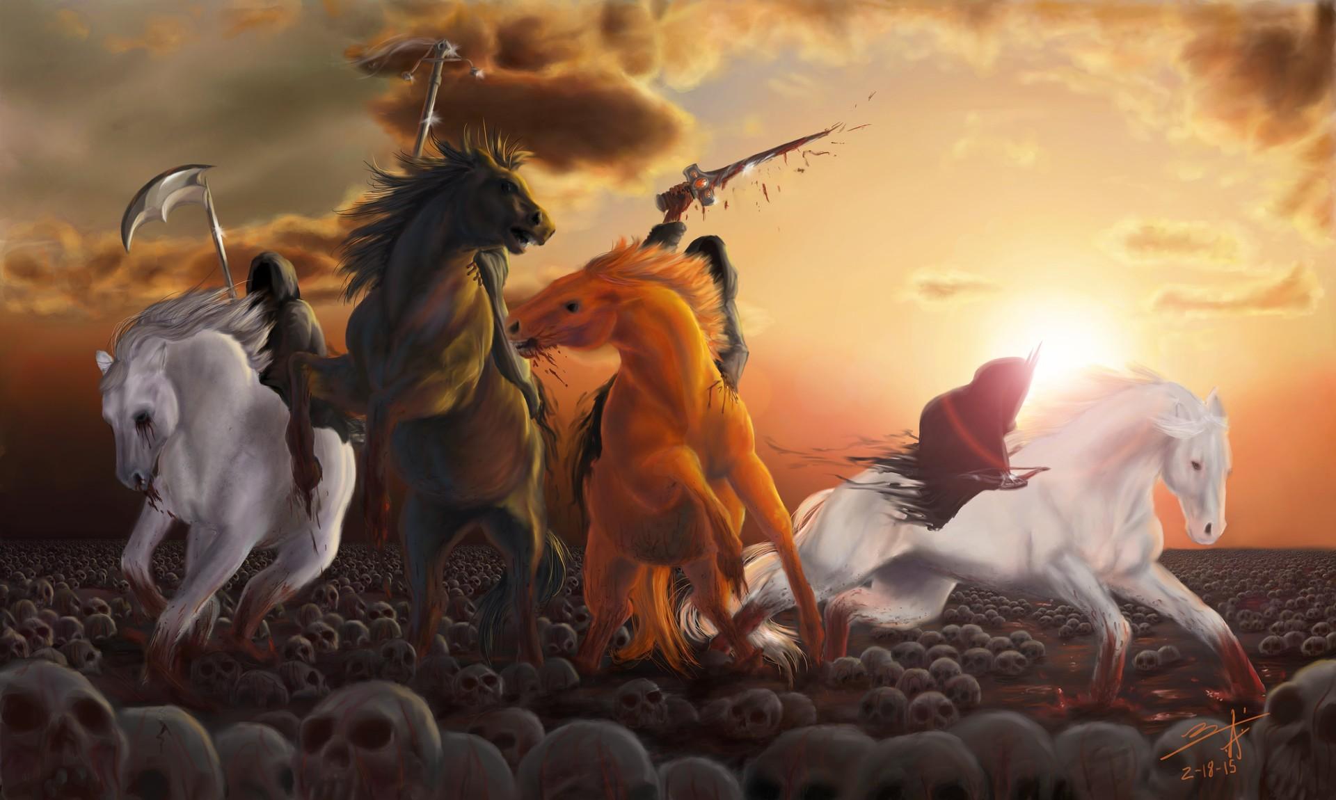 ArtStation - Four Horsemen of the Apocalypse, Tianna Palmer