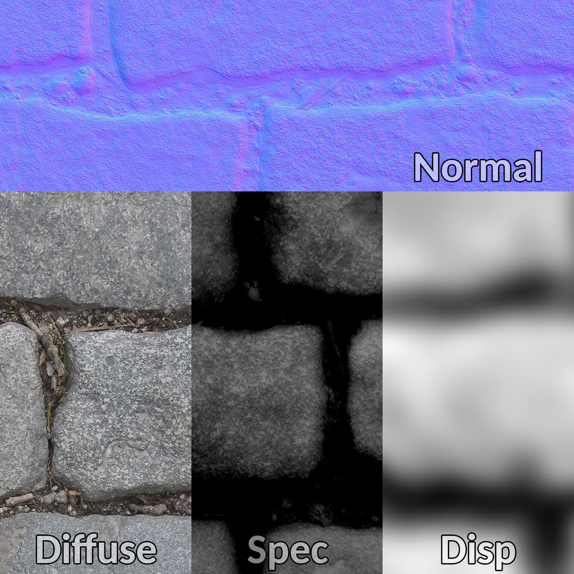 ArtStation - Cobblestone PBR texture maps - FREE download, G A