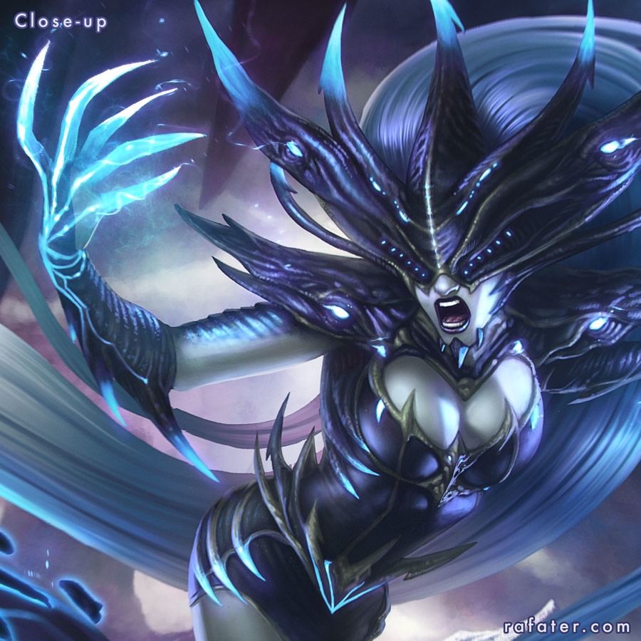 Rafael teruel league of legends lissandra close up by rafater
