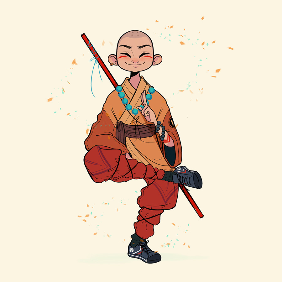Animation Character Design Artist : Artstation shaolin monk chabe escalante
