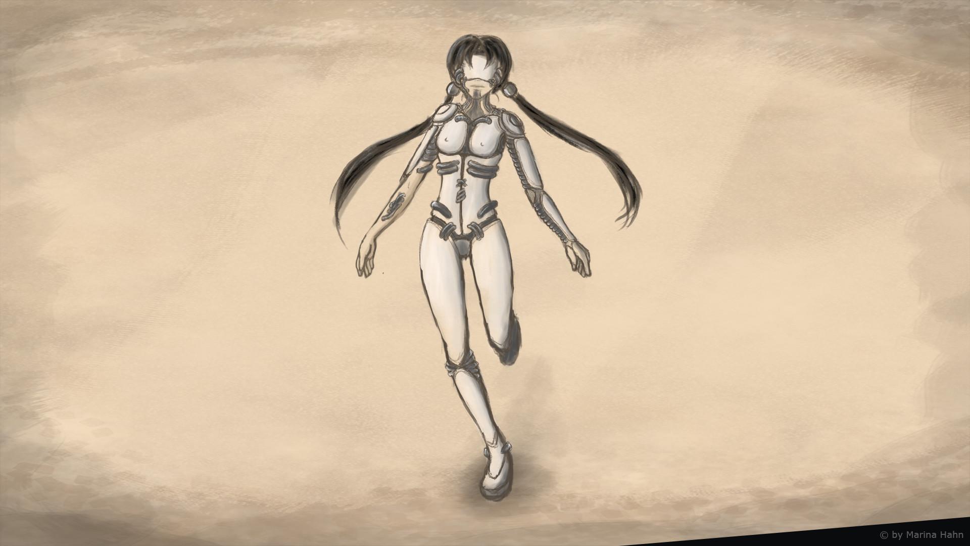 Marina hahn character3d cyborgconcept