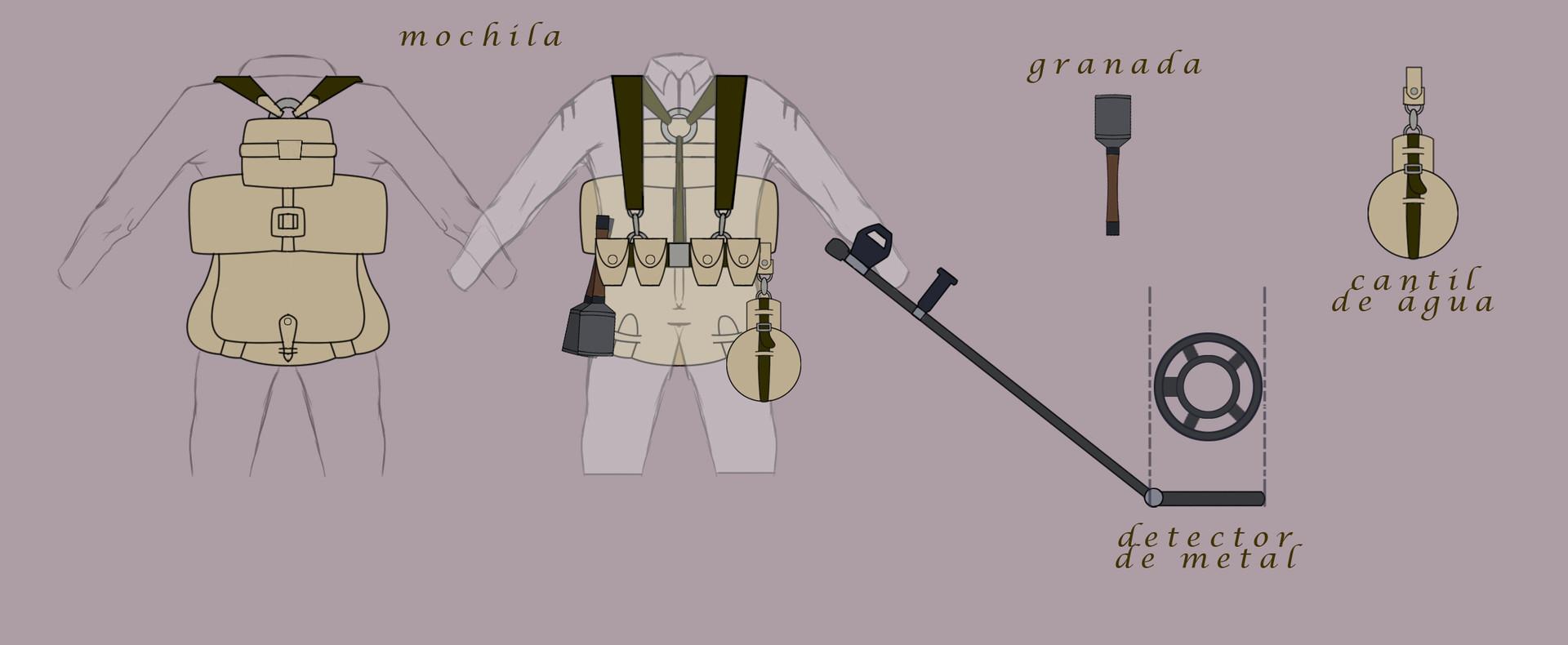 Angelo carvalho objetos e armas