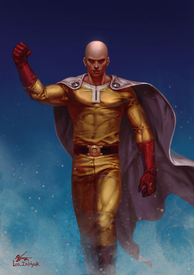 ArtStation - One Punch Man - Saitama, InHyuk Lee