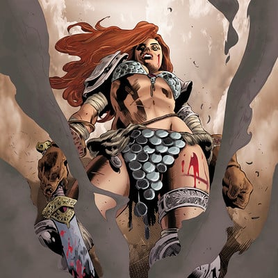 Matt james red sonja by mattjamescomicarts d9kn4ye