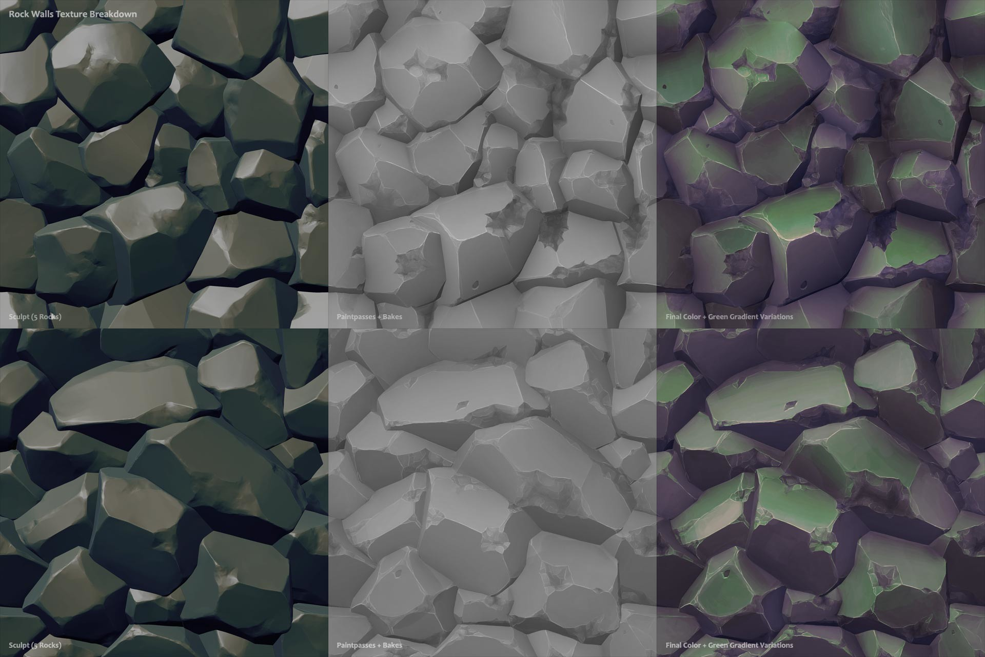 Anthony garcellano tileablerockwalls texturesbreakdown anthonygarcellano