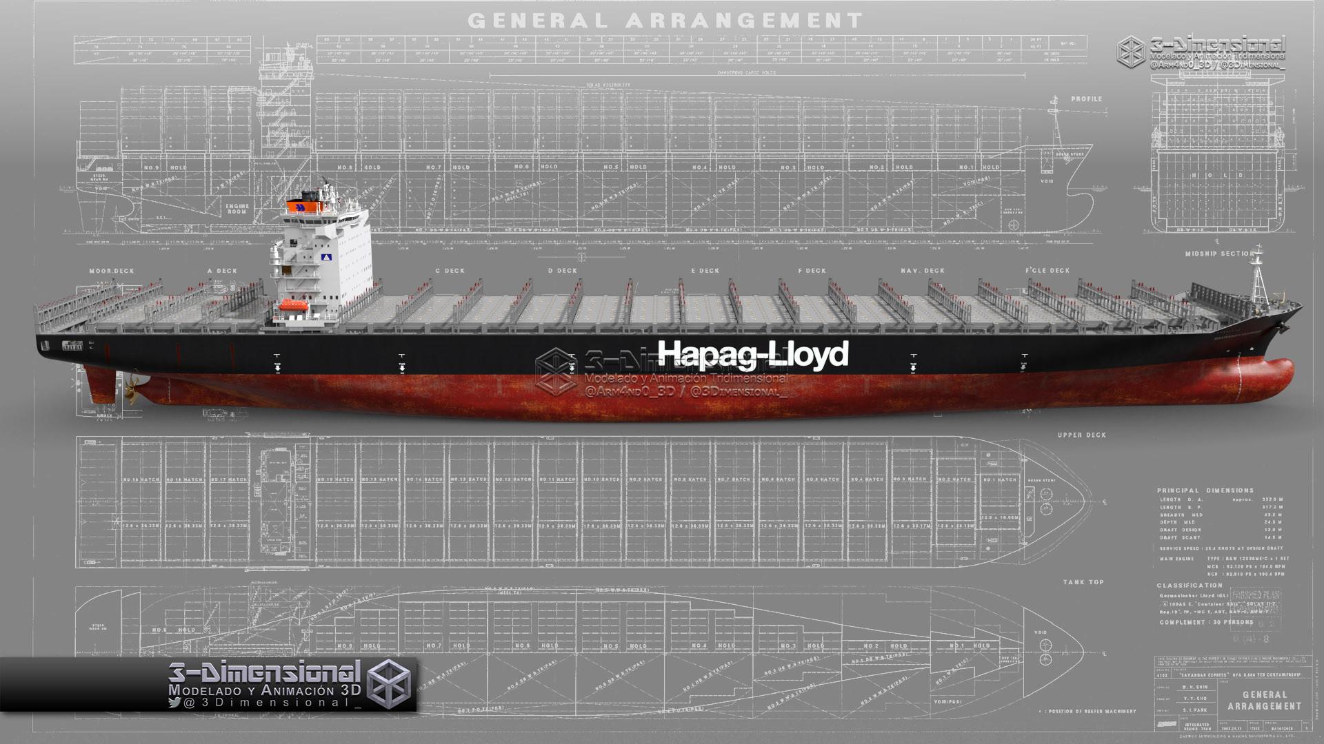 169 ️ 3 Dimensionarte Container Ship Savannah Express