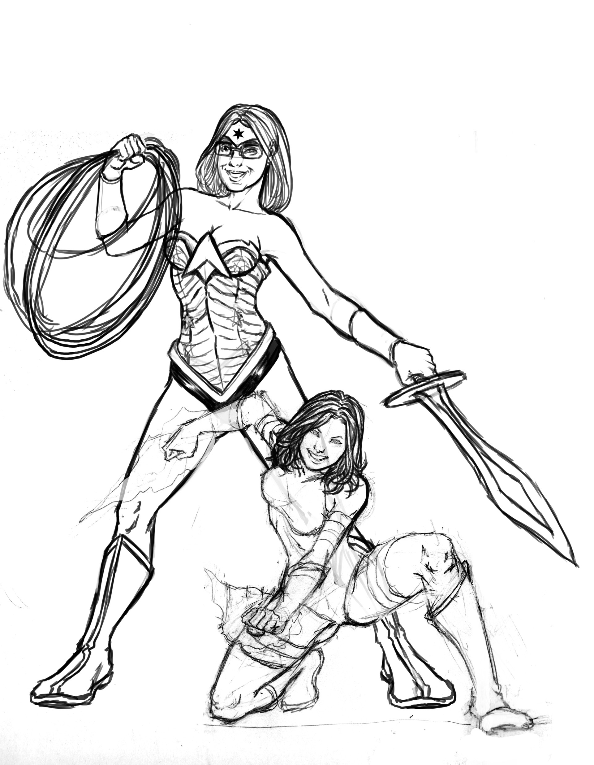 Gustavo melo wonder woman and psylocke