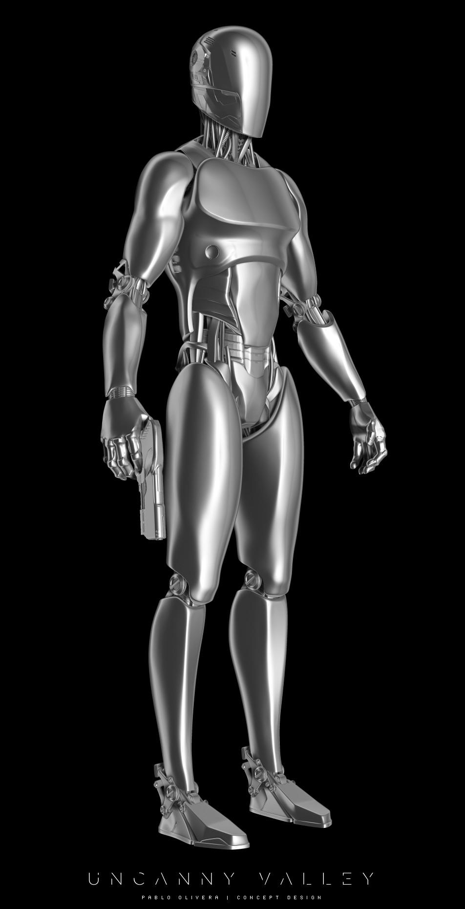 Pablo olivera uncanny valley character design robot 02