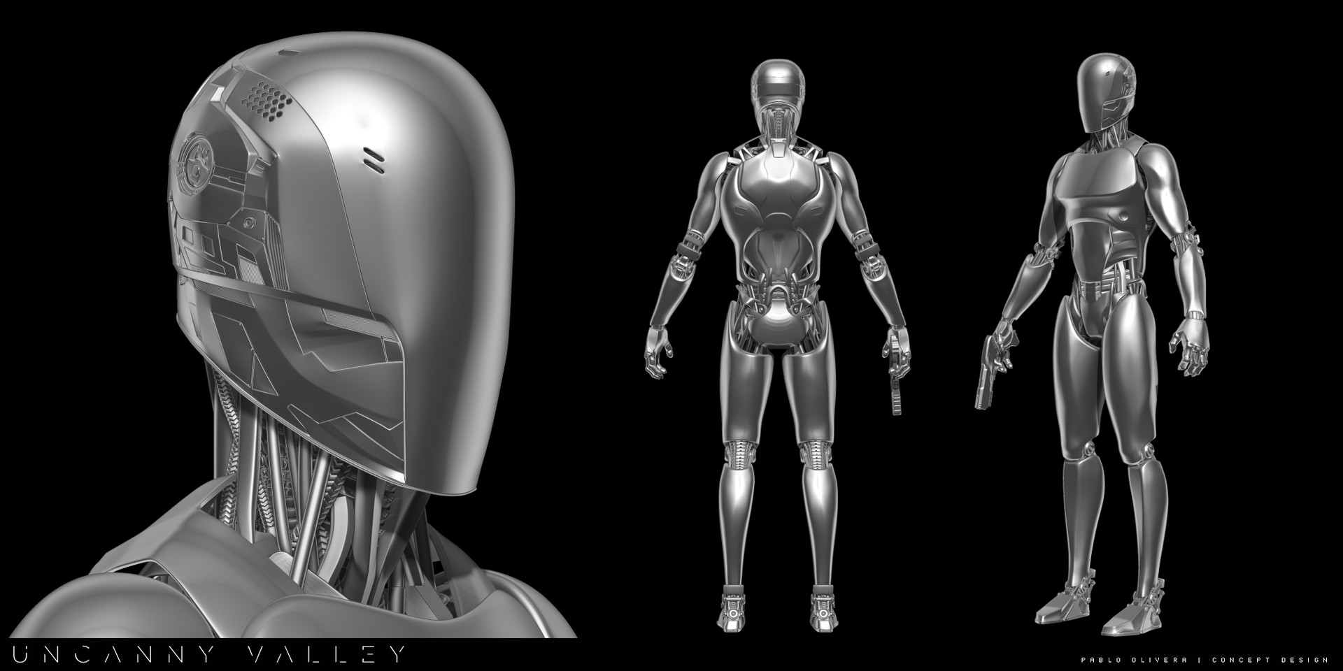Pablo olivera uncanny valley character design robot detalle2