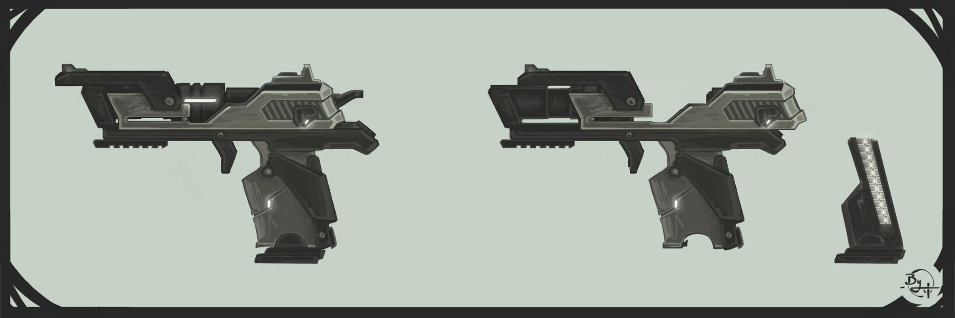 Etienne beschet conceptart warrior v2 gun