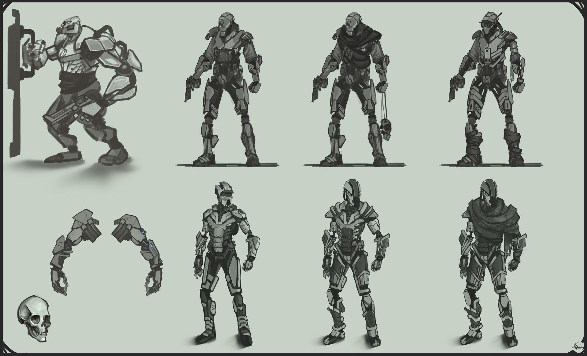 Etienne beschet conceptart warrior v1