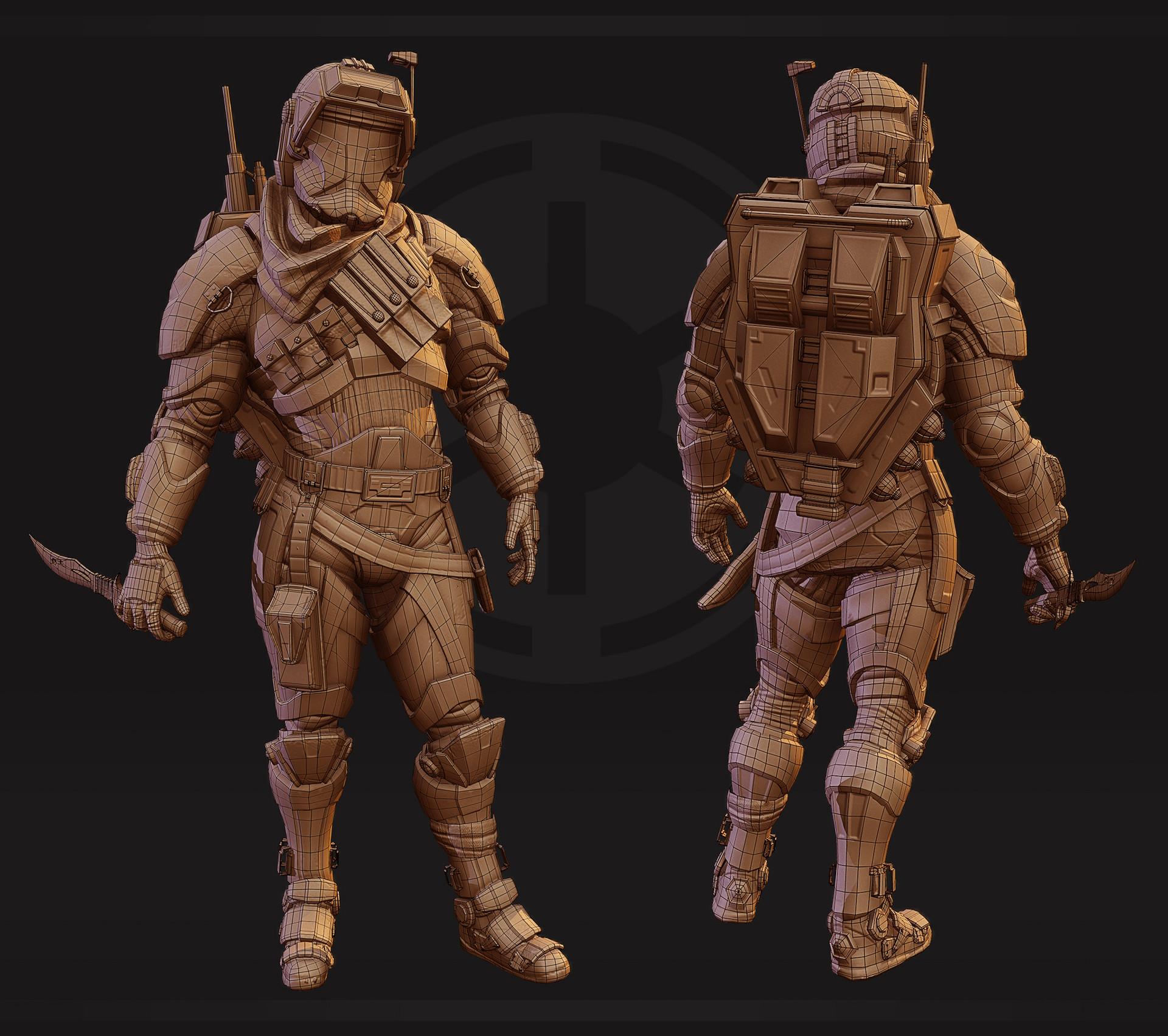 Artstation Star Wars Republic Commando Pete Riebel