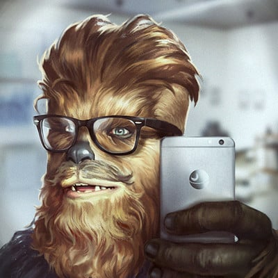 Grafit studio chewbacca in barbershop