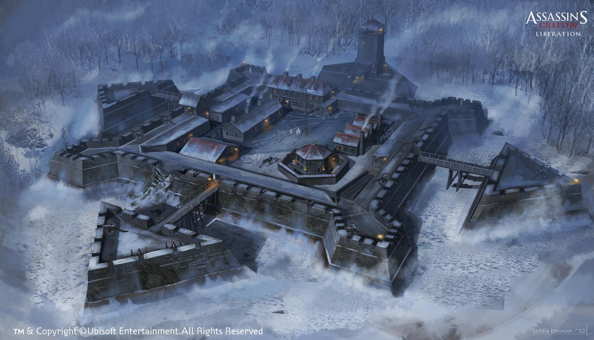 ArtStation - New York Outskirts / Fort Concept, Eddie Bennun