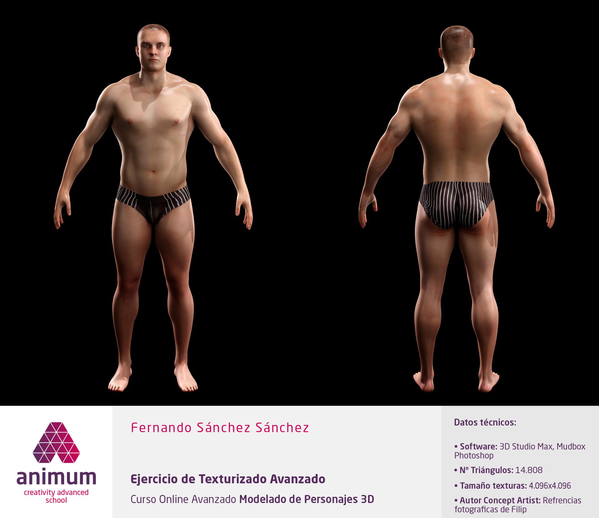 ArtStation - Modulo 1 Estudio de la anatomía humana, Fernando Sanchez