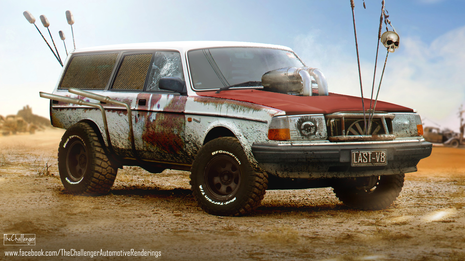 Off Roading Cars >> ArtStation - Volvo 240 Wagon (Mad Max:Fury Road inspired), Abimelec Arellano