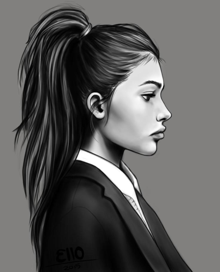 artstation girl side profile elouise wihongi